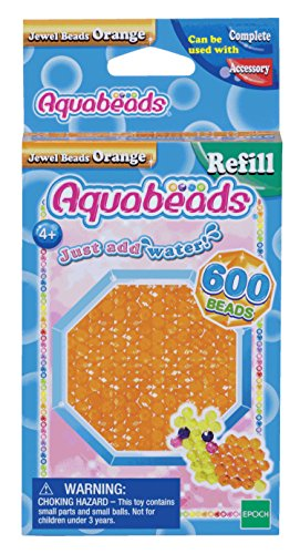 Aquabeads Jewel Bead Refill Pack, Orange