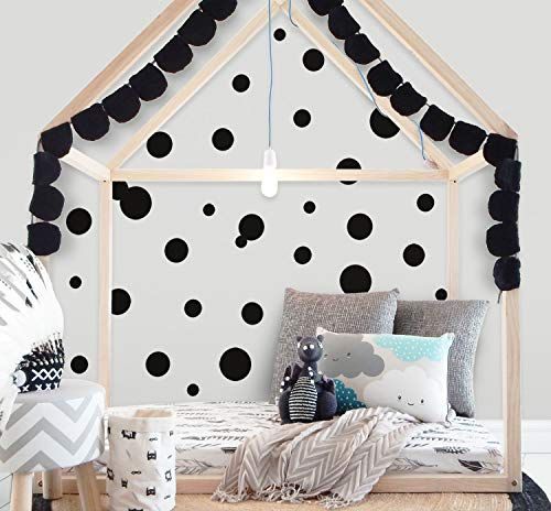 Polka Dot Wall Decals (63) Girls Room Wall Decor Stickers, Wall Dots, Vinyl Circle Peel & Stick DIY Bedroom, Playroom, Kids Room, Baby Nursery Toddler to Teen Bedroom Decoration 3