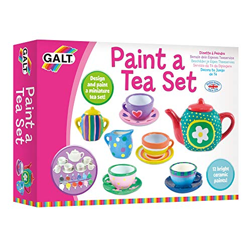 Paint A Tea Set, Paint Your Own Craft Kit for Kids, Ages 5+