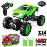VATOS RC Cars, 1:12 Remote Control Car with Dual Motors, 2.4Ghz 4WD Off Road RC Truck with 2 Rechargeable Batteries, Best Gift Monster Truck Buggy Hobby Toy for Kid and Adult