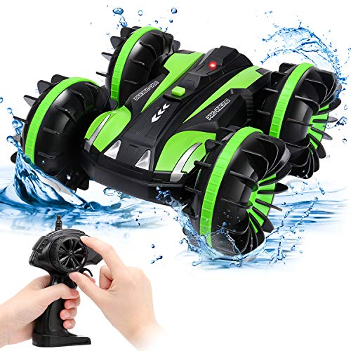 SGILE RC Stunt Car Toy, Remote Control Car with 2 Sided 360 Rotation for Boy Kids Girl, Black