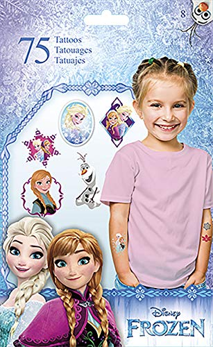 Trends International Disney Frozen Standard Tattoo 75 Count Bag