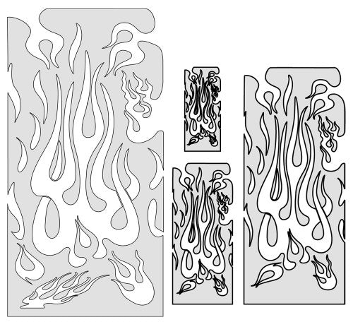 Artool Freehand Airbrush Templates, Freehand Flame Master Set