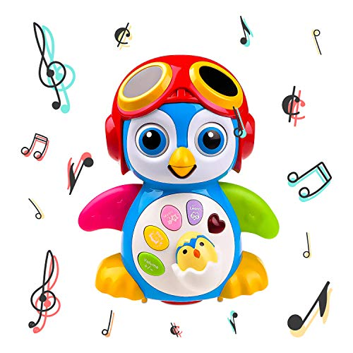 Musical Dancing Penguin Toy for Boys & Girls Kids or Toddlers Aged 1 2 3 4 5 TG655 – Features Different Modes, Lights, Sounds – Fun Storytelling Toy by ThinkGizmos (Trademark Protected)
