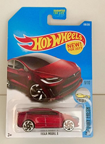 Hot Wheels 2017 Factory Fresh Tesla Model X 196/365, Maroon