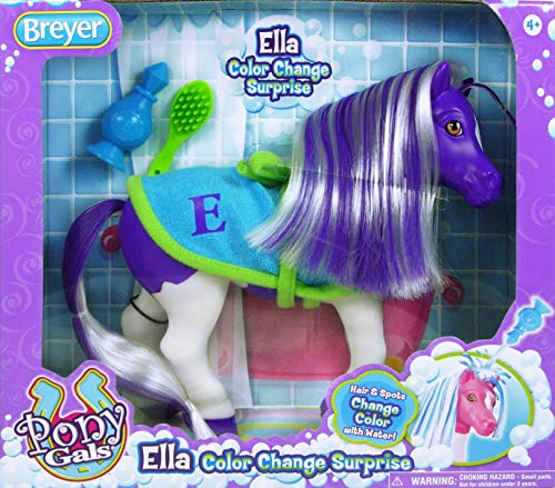 Breyer Horses Color Changing Bath Toy | Ella the Horse | Purple / White with Surprise Pink Color | 7