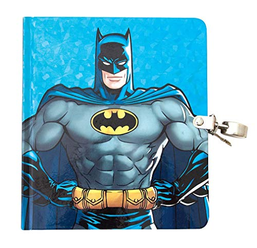 Playhouse DC Comics Batman Shiny Foil Lock & Key Lined Page Diary for Kids