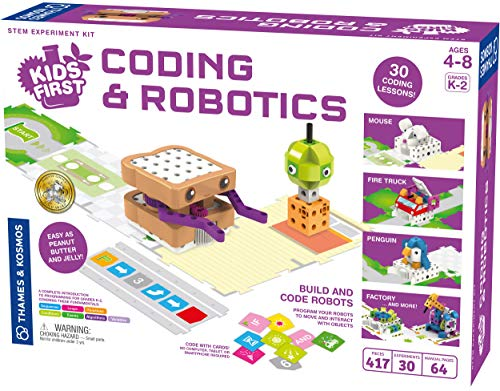 Thames & Kosmos Kids First Coding & Robotics | No App Needed | Grades K-2 | Intro to Sequences, Loops, Functions, Conditions, Events, Algorithms, Variables | Parents' Choice Gold Award Winner
