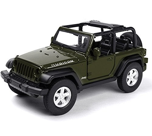 Berry President Alloy Car Model Vehicle Simulation Toy for Children 1:32 Scale Model Jeep Wrangler Car Electric Toy Sound & Light - Birthday (Green)