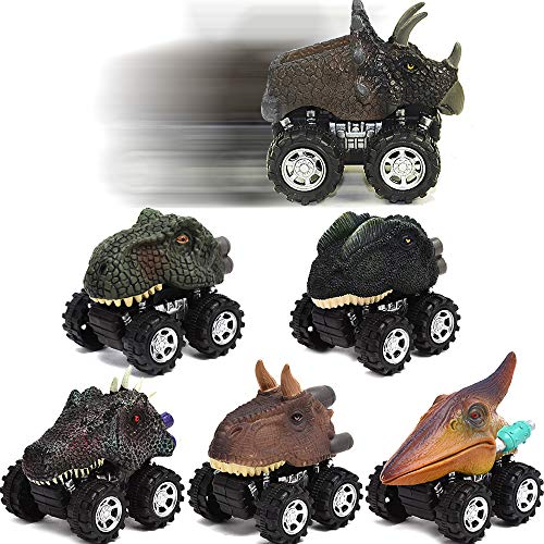 Toy Cars-Dinosaur Toys ,toys for 2 3 4 5+ Year Old Boys Girls 6 Pack Mini Dino Cars with Big Tire toddler toys for boys age 2 3 4 5 gifts for 2-10 year old boys Pull Back Vehicles Toys for kids