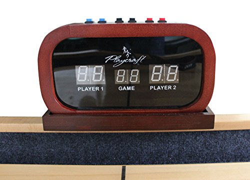 Playcraft Electronic Scorer for Home Recreation Shuffleboard Table - Cherry