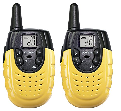 OUREAL Walkie Talkies for Kids Long Distance Two-Way Radio 2 Packs Yellow