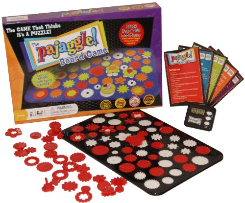 Pajaggle Board Set (Black Board/Red Pieces)