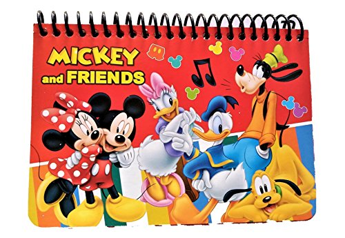 Disney Authentic Licensed Spiral Autograph Book Memo Notepad (Mickey & Friends Red)