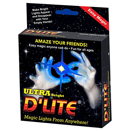 D'lites Regular Blue Lightup Magic - Thumbs - Set of 2 Original Amazing Ultra Bright Light - Closeup & Stage Magic Tricks - Easy - Free Training Video See Box (Regular, Blue)