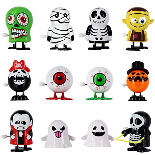 heytech 12 PCS Wind-up Toys for Halloween Assorted Clockwork Toys Supply for Party Favors for Boys,Girls,Kids
