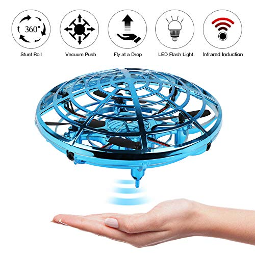 KETEP 2019 Upgrade Flying Toys Drones for Kids, Mini Drone Helicopter, Infrared Sensor Auto with 360� Rotating Hand Controlled Drone Toys for Boys or Girls