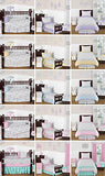 Gray and White Damask Fabric Memory/Memo Photo Bulletin Board