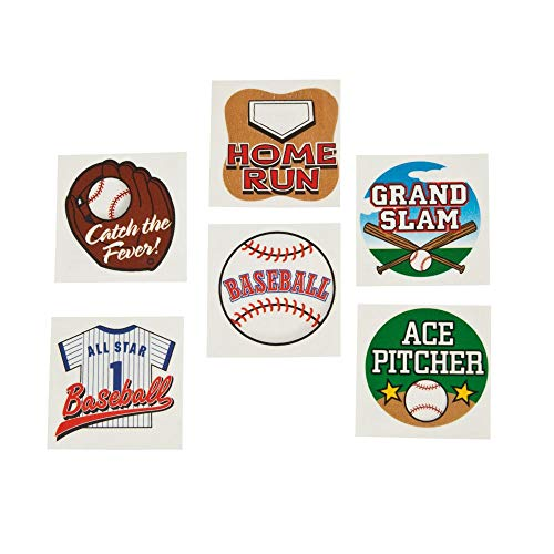 BASEBALL TATTOOS (6DZ) - Apparel Accessories - 72 Pieces