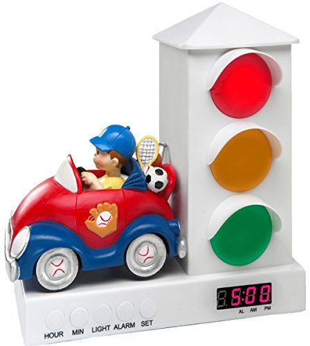 Boy Car Stoplight Alarm Clock for Kids, It's Ok to Wake Clock