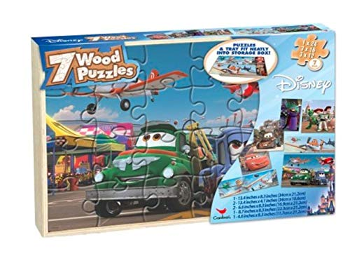 Disney Boys Real Wood Puzzles (4 Pack)