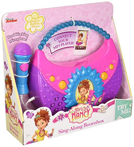eKids Fancy Nancy Sing Along Boombox with Real Working Microphone Built in Music and Can Connect to MP3 Player