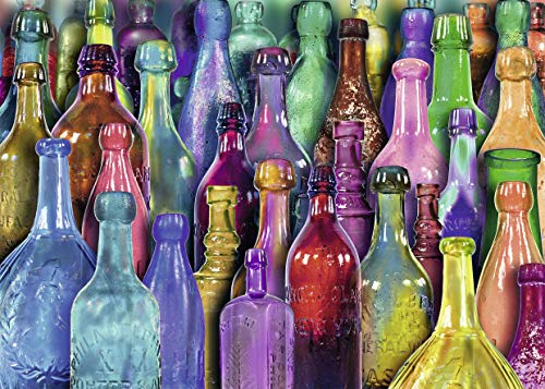 Ravensburger Colorful Bottles Puzzle 1000 Piece Jigsaw Puzzle for Adults – Every Piece is Unique, Softclick Technology Means Pieces Fit Together Perfectly