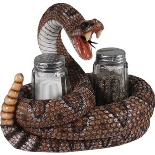 River's Edge Products Rattle Snake Salt and Pepper Shakers