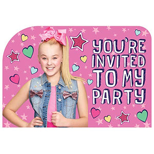 Amscan JoJo Siwa Invitations (8 ct)