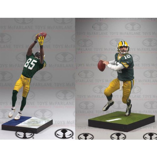 McFarlane Green Bay Packers Aaron Rodgers & Greg Jennings Action Figures