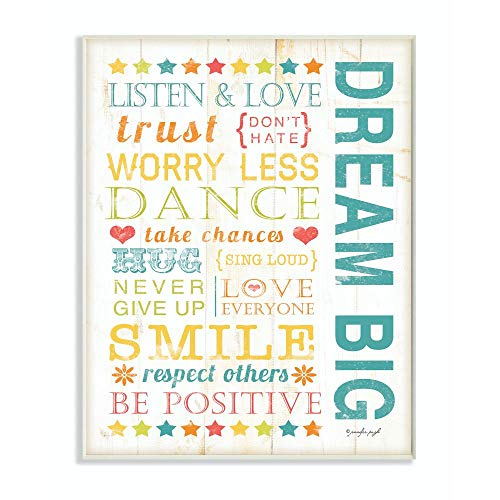 Stupell Home D�cor Dream Big Typography Canvas Wall Art, 16 x 20, Multi-Color