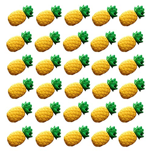 iMagitek 30 Pack Mini Pineapple Erasers for Kids Party Bag Favors, Kids Stocking Fillers, Classroom Prizes