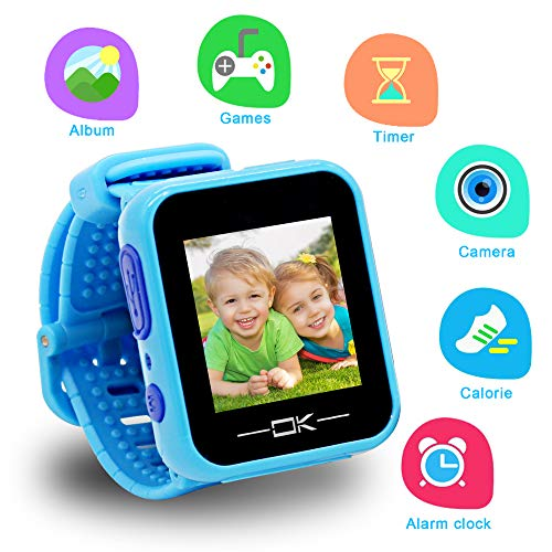 Gifts for 3-10 Year Old Boy Pussan Smart Watches for Kids Toddler Watch with Camera USB Charging Best Toy Christmas Birthday Gifts for Kids Smartwatch Kids Watches for Boys Girls VTech Kidizoom Blue