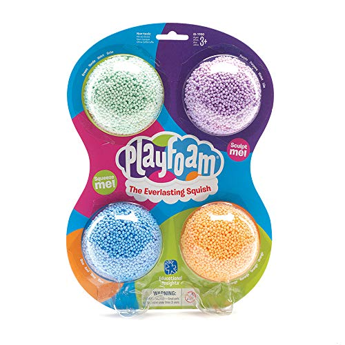 Educational Insights Playfoam Classic 4-Pack | Non-Toxic, Never Dries Out | Sensory, Shaping Fun, Arts & Crafts For Kids, Great for Slime| Perfect for Ages 3+