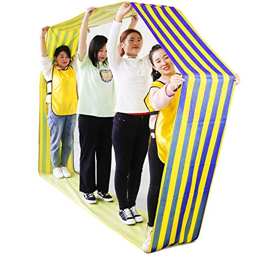 TOPFEN Kids Group Learning Activity Fun Playing Run Mat for Obstacle Course and Teamwork Building Games/26ft