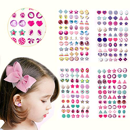 240 Piece Sticker Earrings 3D Gems Sticker Girls Sticker Earrings Self-Adhesive Glitter Craft Crystal Stickers