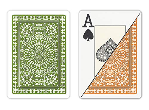 DA VINCI Italian 100% Plastic Playing Cards, 2 Deck Set with Hard Shell Case and 2 Cut Cards (Poker Jumbo Index)