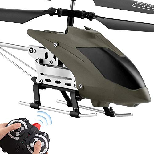 RC Helicopter Remote Control Helicopter Indoor RC Flying Helicopter Argohome 3.5 Channels Hobby Mini 2 Blades Replace Included RC Plane Toy Gift for Kids Crash Resistance Consistent Built- (Grey)