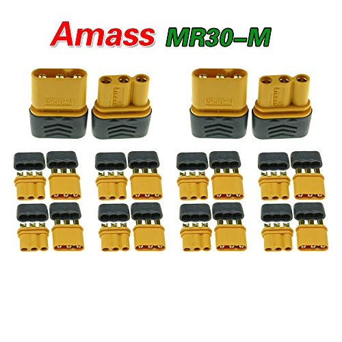 10 Pairs Amass MR30 Male Female Connector Plug for RC Multicopter Airplane