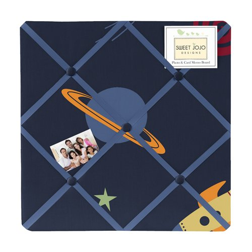 Navy Fabric Memory/Memo Photo Bulletin Board for Space Galaxy Collection