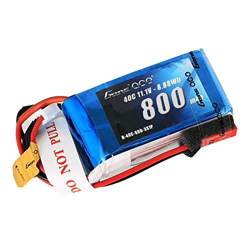 Gens ace 3S 800mAh 11.1V 40C LiPo Battery Pack with JST Plug for 200 250 Heli 800mm Warbirds Eflite Blade CP CP Pro Helicopter Compare to E-flite EFLB8003SJ30