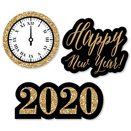 Big Dot of Happiness New Year's Eve - Gold - DIY Shaped 2020 New Years Eve Party Cut-Outs - 24 Count