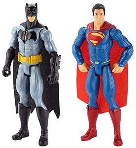 DC Comics Batman V Superman Batman & Superman Figure 2 Pack [Amazon Exclusive], Model Number: DLN32