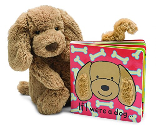 Jellycat Baby Touch and Feel Board Books, If I were a Dog