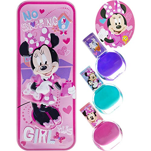 Townley Girl Disney Minnie Mouse Nail Polish with themed Purse, Age 3+ - 3 Pack