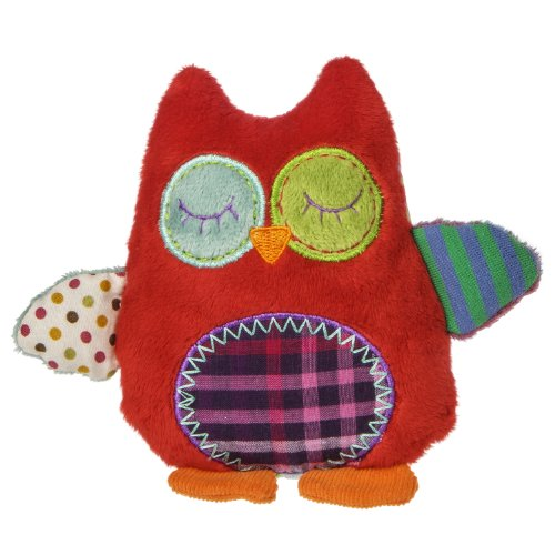Natural Life Baby Mary Meyer Animal Plush Rattle, Whooo Loves You Owl