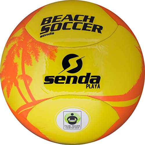 SENDA Playa Beach Soccer Ball, Fair Trade Certified, Orange/Yellow, Size 5 (Ages 13 & Up)
