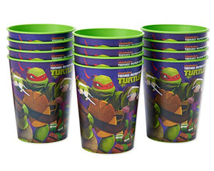 American Greetings Teenage Mutant Ninja Turtles (TMNT) Plastic Cups for Kids (12-Count)