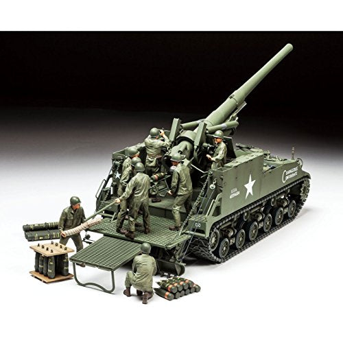 Tamiya Models U.S. Self-Propelled 155Mm Gun M40 1/35 Toy, Beige