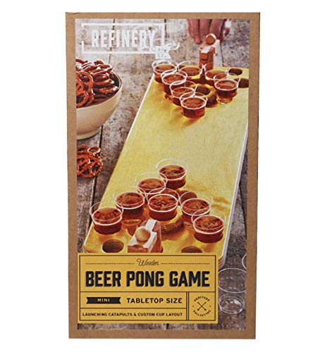 Refinery and Co. Wooden Pong Game